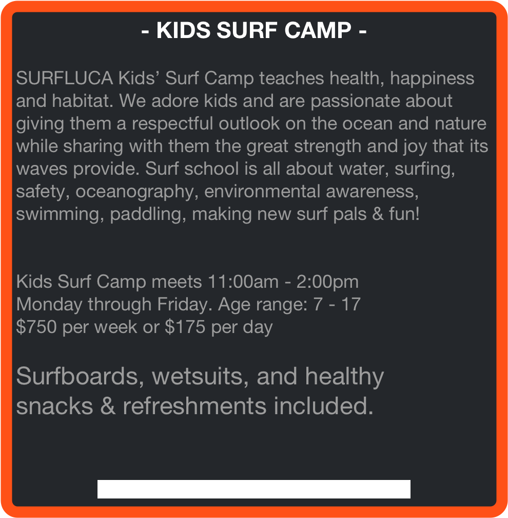 - KIDS SURF CAMP -