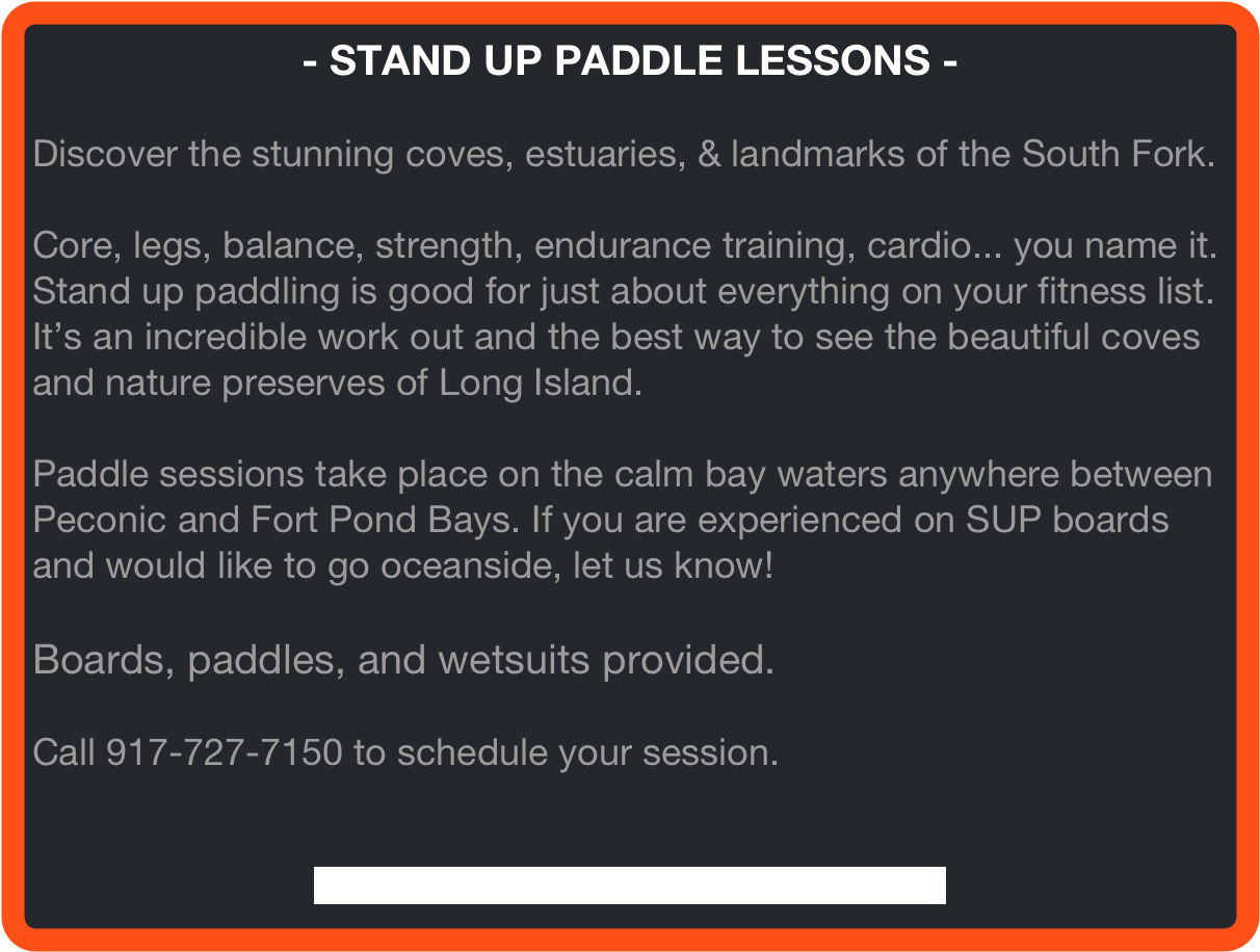 - STAND UP PADDLE LESSONS -
